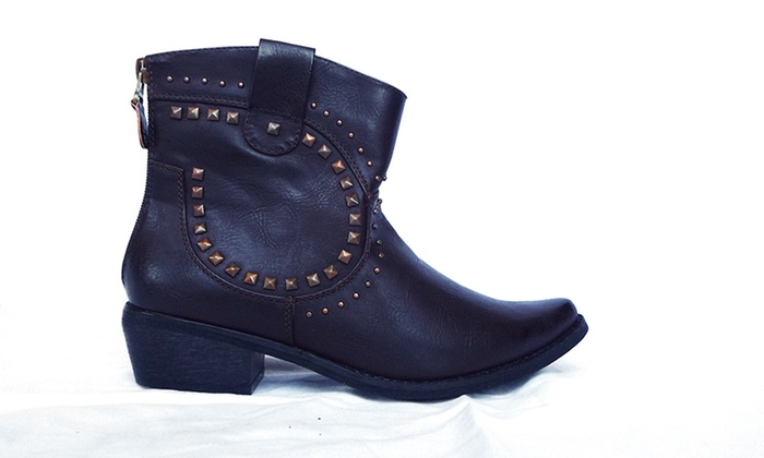 Electric Karma Country Back Zip Ankle Boots