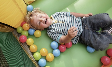 Bounce-House Admission for Up to Two or Five Kids with Tokens and Snacks at Jungle George's (Up to 52% Off)