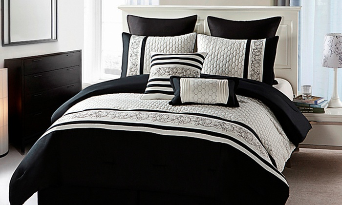 8-Piece Comforter Sets: 8-Piece Comforter Set in Queen or King from $59.99–$69.99. Multiple Designs Available. Free Returns.