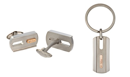 Gold Tytanium Men's Cufflinks or Keychain by Bliss by Damiani