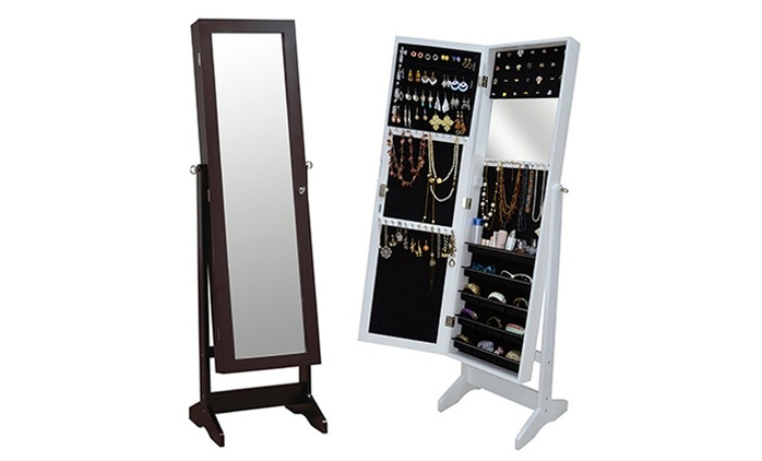 Jewelry and Mirror Cabinet (Shipping Included)