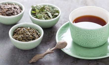 Wertgutschein über 43,20 €, 86,60 € oder 129,60 € anrechenbar auf Teeboxen mit verschiedenen Sorten von Tee-Auszeit