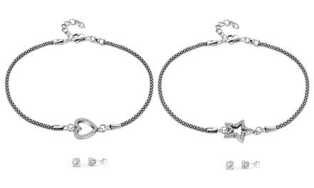 Conjunto de pulsera y pendientes con cristales de Swarovski® con envío gratuito