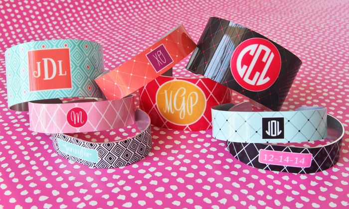 Paper Concierge: Personalized Thin or Wide Cuff Bracelets from Paper Concierge (Up to 60% Off). Four Options Available.