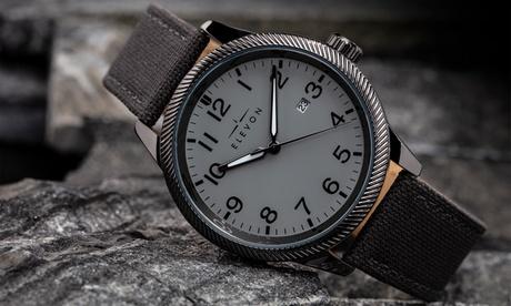 Reloj de cuero genuino con indicador de fecha