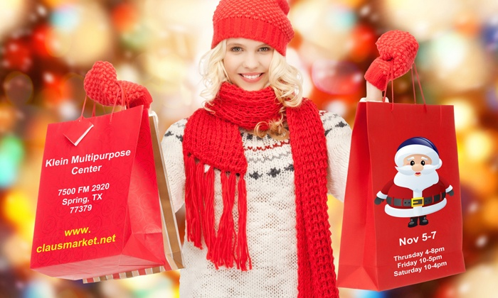 Claus Market - Klein Multipurpose Center: Entry to the Claus Market for Two, Four, or Six at Claus Market on November 5–7, 2015 (50% Off)