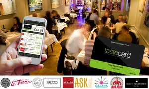 Taste Marketing Limited: 12-Month tastecard Membership for £34 (57% Off)
