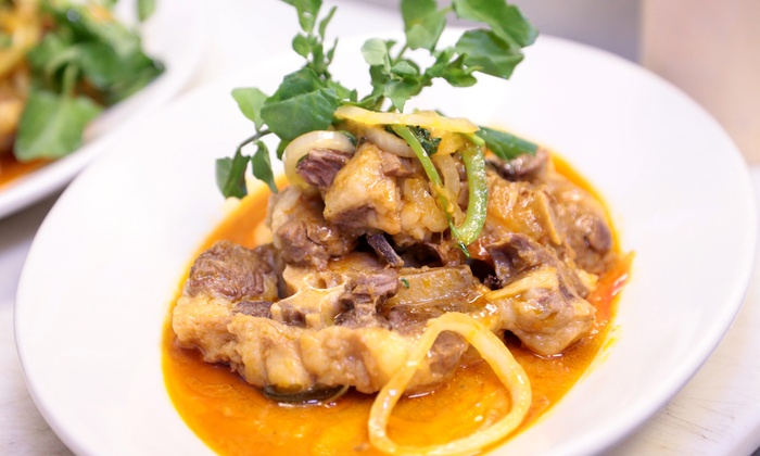 V Cuisine - North Jersey: $22 for $40 Worth of Caribbean Creole Food Food for Two or More at V Cuisine