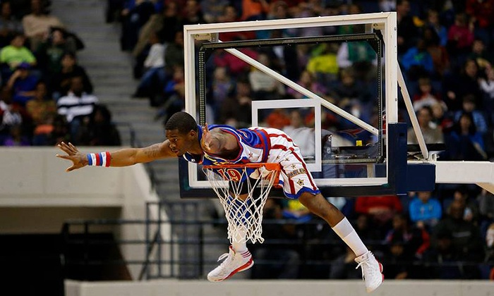 Harlem Globetrotters - Spokane Arena: $32 to See a Harlem Globetrotters Game at Spokane Arena on Tuesday, February 18 (Up to $46.25 Value)