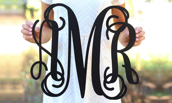 Morgann Hill Designs: One or Two Fancy Monogrammed Wall Signs from Morgann Hill Designs (Up to 54% Off)
