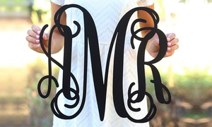 One Or Two Fancy Monogrammed Wall Signs From Morgann Hill Designs (up To 54% Off)