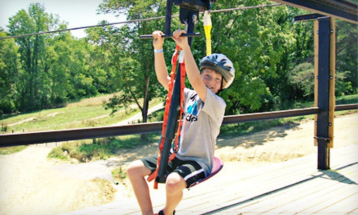 Ohio ATV World - Logan: ZipRail and Target-Practice Package for Two, Four, or Six at Ohio ATV World in Hocking Hills (Up to 56% Off)