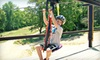 R Adventure Park - Logan: ZipRail and Target-Practice Package for Two, Four, or Six at Ohio ATV World in Hocking Hills (Up to 56% Off)