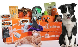 Pet Gift Box: One- or Three-Month Subscription for Delivery of Holiday Themed Pet Gift Boxes from Pet Gift Box ( 52% Off )