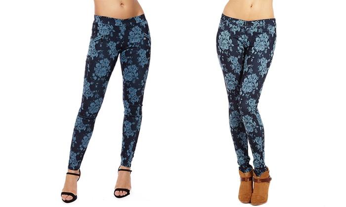Skinny Fit Women's Floral Print Pants
