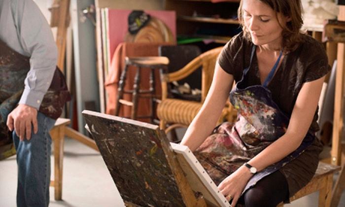 Objet d'Art Gallery & Studios - Peachtree Corners: Canvas-Painting Class for One or Two at Objet d'Art Gallery & Studios (Up to 57% Off)