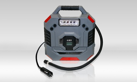 12-Volt Programmable Inflator with Removable Digital Tire Gauge