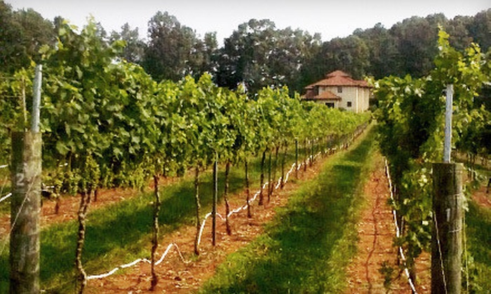 Morgan Ridge Vineyards - Morgan: Winery Tour with Tasting, Souvenir Glasses, and Cheese Plates for Two or Four at Morgan Ridge Vineyards (Up to 60% Off)