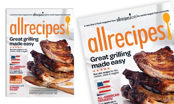 All Recipes Magazine Allrecipes 2 Year Print Or Digital Subscription