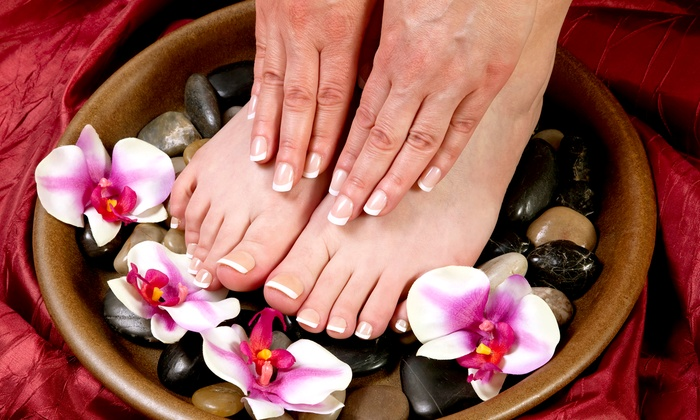 B' Polished Salon & Spa - Lebanon: Gelish Manicure with Optional Pedicure at B' Polished Salon & Spa (Up to Half Off)