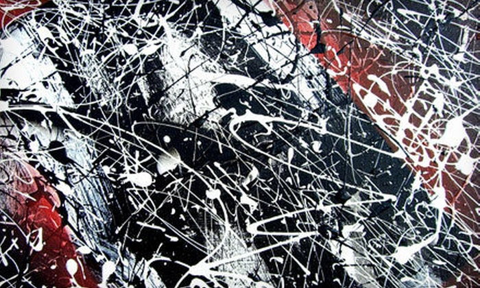 UnCommon Art Space - Briarcreek - Woodland: Sling Paint Like Pollock Class for One, Two, or Four at UnCommon Art Space (Up to 60% Off)
