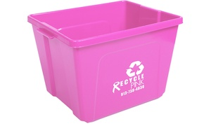 Recycle Pink KC: $20 for Three Months of Glass and Electronics Recycling Collection from Recycle Pink KC ($40 Value)