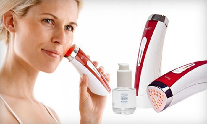 Silk'N FaceFX Anti-Aging Light Therapy Tool: $149 for a Silk'n FaceFX Anti-Aging Handheld LED Light and Hydrator Serum ($378 List Price)