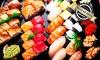Selbst kreierte Sushi-Platte