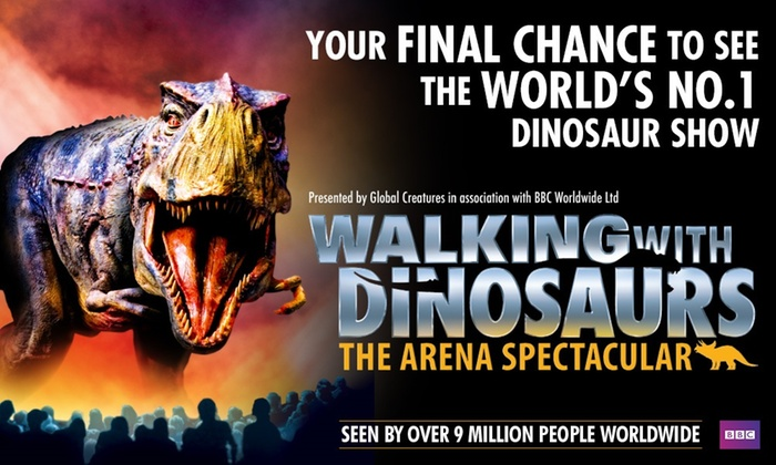 Walking With Dinosaurs – The Arena Spectacular, 20 July–30 December 2018, Ten Locations