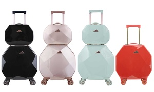 KENSIE Gemstone Spinner Luggage Set