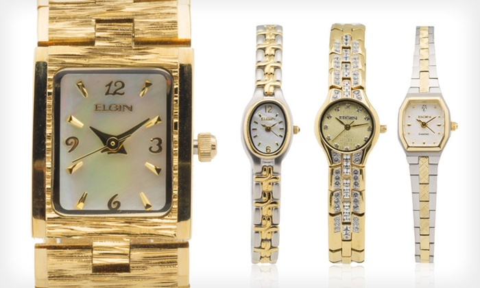 Elgin Ladies' Watches: Elgin Ladies' Watches (Up to 92% Off). Multiple Styles Available.