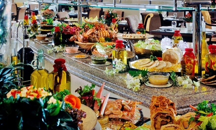 Breakfast, Lunch or Dinner Buffet and Drinks for Up to Four at La Veranda at Sheraton Al Khalidiya Hotel (Up to 66% Off)