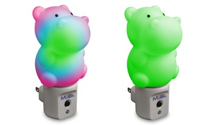 Mobi Hippo Led Color-changing Nightlight (2-pack)