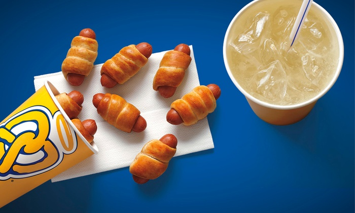 Auntie Anne's - Multiple Locations: $5 for $10 Worth of Soft Pretzels, Lemonade, Soda, and Dips at Auntie Anne's. Four Locations Available.