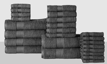 Economic Collection 100% Cotton Low-Twist Towel Set (24-Piece)