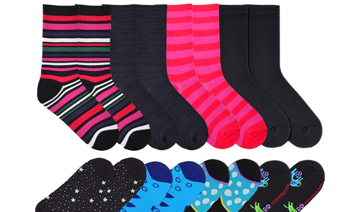 K. Bell Women's Laurel Burch or Soft and Dreamy 4-Pack Sock Bundles: K. Bell Women's Laurel Burch or Soft and Dreamy 4-Pack