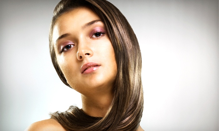 Greatcuts - Colonia: Keratin Express Treatment, or Haircut and Style with Highlights or Color at Greatcuts (Up to 57% Off)
