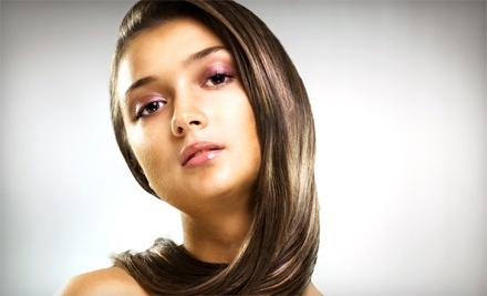 Keratin Express Treatment, or Haircut and Style with Highlights or Color at Greatcuts (Up to 57% Off)