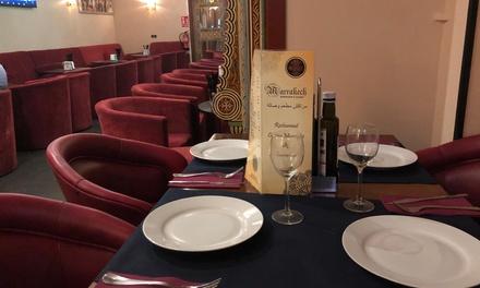 Menú para 2 o 4 con entrante, principal, postre, bebida, pan y cachimba en Marrakech (hasta 59% de descuento)