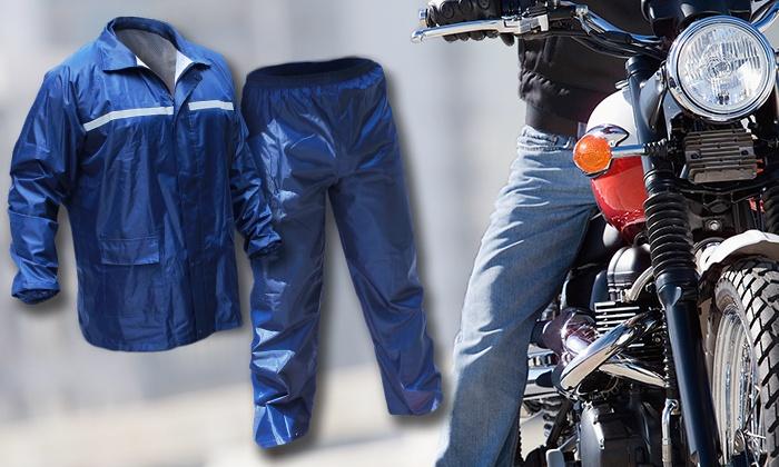 חליפת גשם מקצועית אטומה למים לגברים ולנשים, הכוללת מכנס וחולצה ONE SIZE ב-109 ₪ בלבד. מתאים לטיולים, רכיבה, ועוד