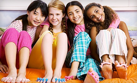 Miss Diva Mobile Spa Party Package with Chocolate Facial and Manicures or Pedicures for up to 6 Kids (a $180 value) - Lil Miss Diva Couture in