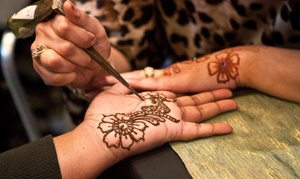 Henna Shoppe: Henna Tattoo or a One-Hour Henna Tattoo Party for 6–10 People at Henna Shoppe (Up to 52% Off)