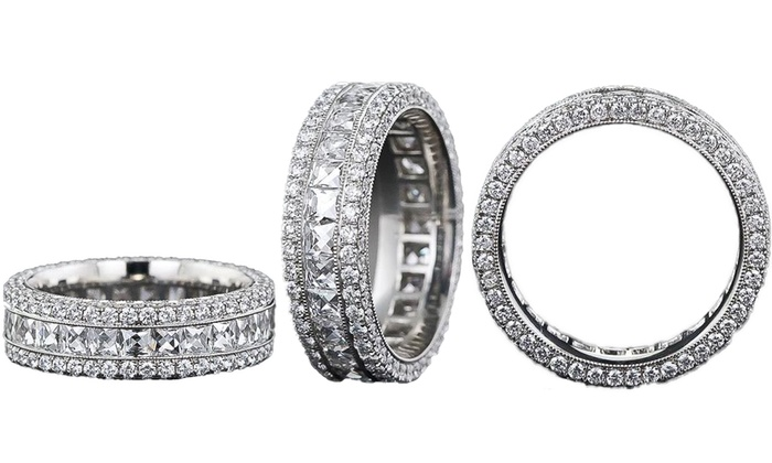 Cubic Zirconia Eternity Ring Groupon Goods