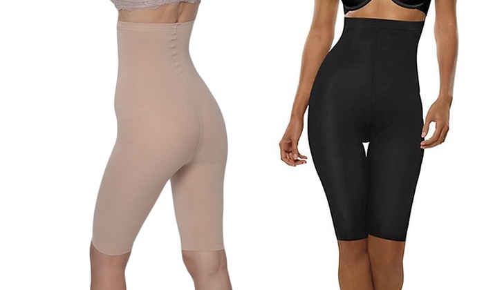 Hanes Plus Size High-Waisted Thigh Shapers (2-Pack)