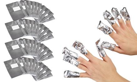 100, 200 of 400 aluminumfoliewraps om semipermanente nagellak te verwijderen