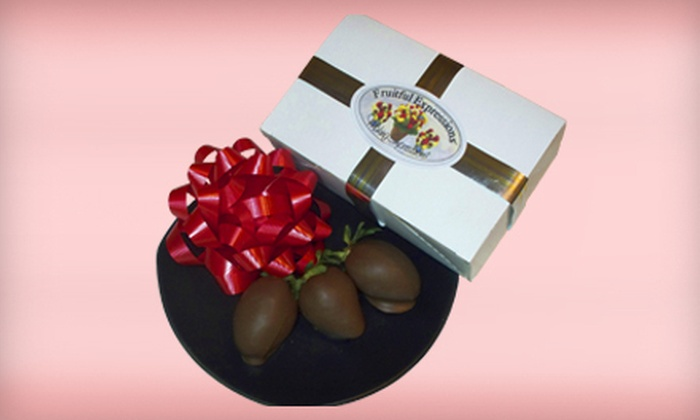 Fruitful Expressions - Lower Sackville: 6 or 12 Chocolate-Dipped Strawberries from Fruitful Expressions (54% Off)