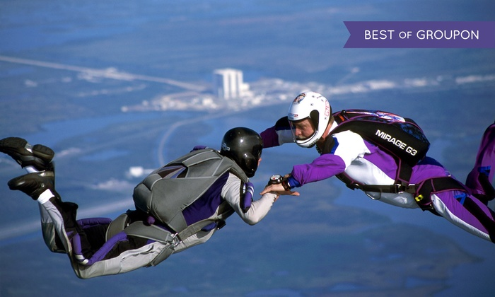 Skydive Space Center - Titusville: $241 for VIP Skydiving Package at Skydive Space Center ($399 Value)
