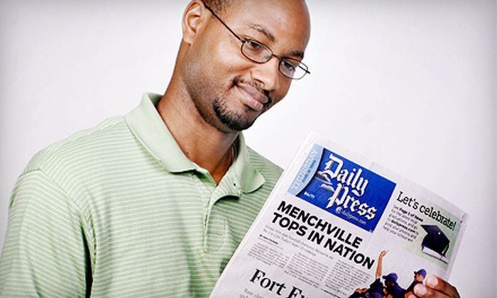"""Daily Press"" - Hampton Roads: Half or Full Year of Sunday Edition or Half Year of Wednesday and Weekend Editions of ""Daily Press"" (Up to 77% Off)"