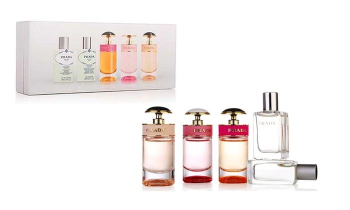 77232fbc6030e5 Prada Mini Fragrance Set | Groupon Goods
