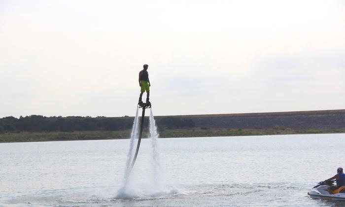 Austin Lake Fun - Multiple Locations: Up to 42% Off Flyboarding at Austin Lake Fun